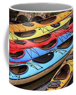 Colorful Alaska Kayaks Coffee Mug