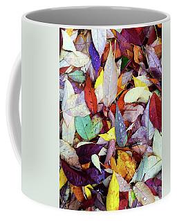 Colorful Autumn Leaves In Raindrops Coffee Mug