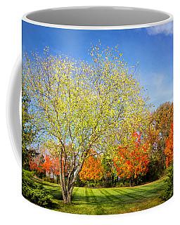 Colorful Backyard Scene Coffee Mug