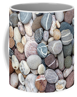 Coffee Mug featuring the photograph Colorful Beach Pebbles by Elena Elisseeva