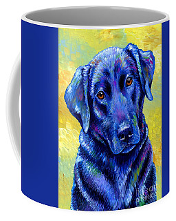Colorful Black Labrador Retriever Dog Coffee Mug
