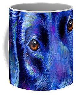 Colorful Black Labrador Retriever Dog Coffee Mug