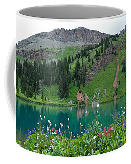 Coffee Mug featuring the photograph Colorful Blue Lakes Landscape by Cascade Colors
