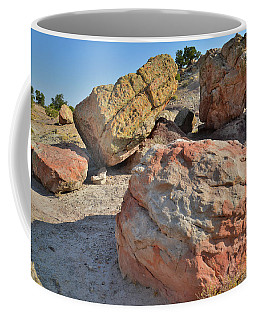 Colorful Boulders In The Bentonite Site On Little Park Road Coffee Mug