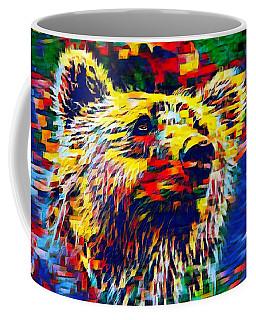 Colorful Brown Bear Coffee Mug