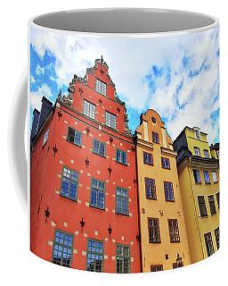Colorful Buildings In Gamla Stan, Stockholm Coffee Mug