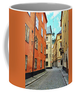 Colorful Buildings In The Old Center Of Stockholm Coffee Mug