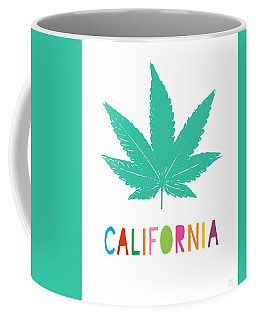 Colorful California Cannabis- Art By Linda Woods Coffee Mug
