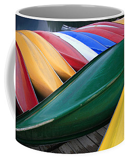 Colorful Canoes Coffee Mug by Catherine Alfidi
