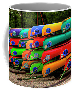 Colorful Canoes  Coffee Mug