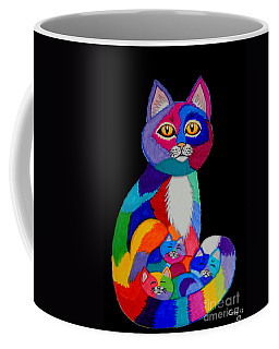 Colorful Cats And Kittens Coffee Mug by Nick Gustafson