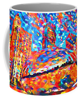 Coffee Mug featuring the painting Colorful Chicago Bean by Dan Sproul