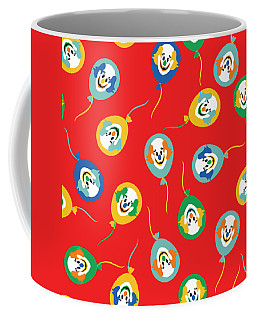 Colorful Circus Clown Balloons  Coffee Mug