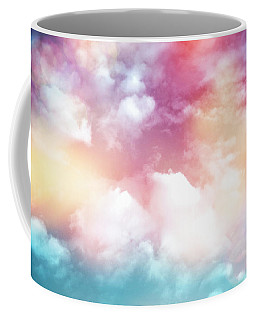 Colorful Clouds With Lens Flare Coffee Mug by Serena King