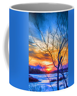 Colorful Cold Sunset Coffee Mug