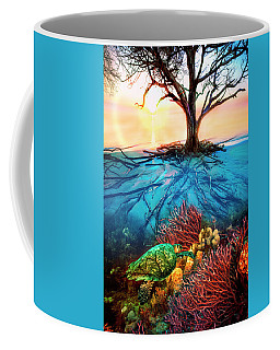 Coffee Mug featuring the photograph Colorful Coral Seas by Debra and Dave Vanderlaan