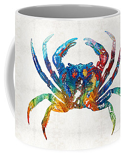 Colorful Crab Art By Sharon Cummings Coffee Mug