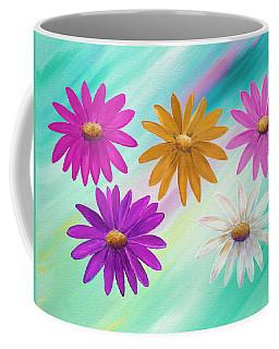 Colorful Daisies Coffee Mug by Elizabeth Lock