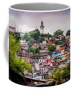 Colorful Houses On The Hill Coffee Mug
