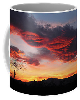 Colorful Dawn Over New Mexico's Peloncillo Mountains Coffee Mug