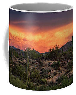 Coffee Mug featuring the photograph Colorful Desert Skies At Sunset  by Saija Lehtonen