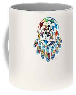 Colorful Dream Catcher By Sharon Cummings Coffee Mug
