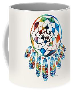 Colorful Dream Catcher By Sharon Cummings Coffee Mug