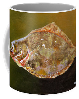 Coffee Mug featuring the painting Colorful Flounder by Phyllis Beiser