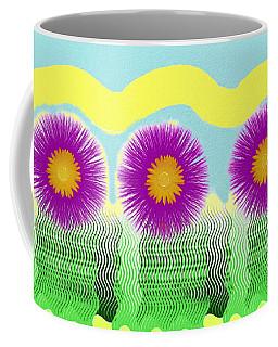 Coffee Mug featuring the digital art Colorful Flower Pop Art by Shelli Fitzpatrick