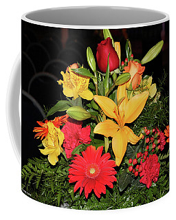 Colorful Flowers Coffee Mug by Suhas Tavkar