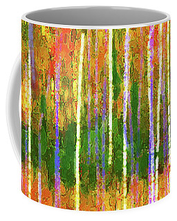 Colorful Forest Abstract Coffee Mug