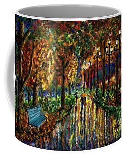 Coffee Mug featuring the digital art Colorful Forest by Darren Cannell