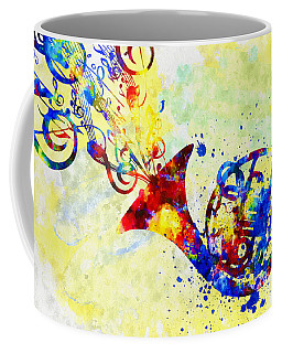 Colorful French Horn Coffee Mug