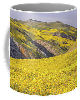 Coffee Mug featuring the photograph Colorful Hill And Golden Field by Marc Crumpler