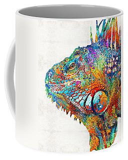 Colorful Iguana Art - One Cool Dude - Sharon Cummings Coffee Mug