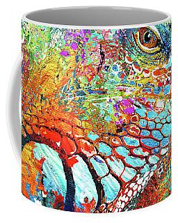 Colorful Iguana Art - Tropical Two - Sharon Cummings Coffee Mug