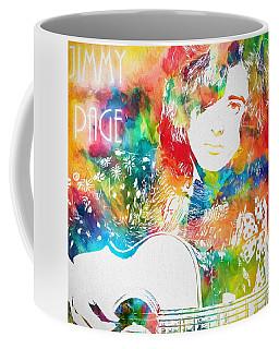 Colorful Jimmy Page Coffee Mug