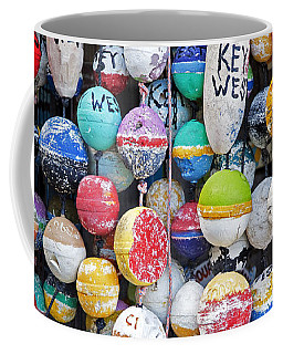 Colorful Key West Lobster Buoys Coffee Mug by John Stephens
