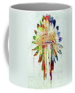 Colorful Lakota Sioux Headdress Coffee Mug