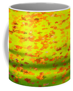 Colorful Leaves On Canal Coffee Mug