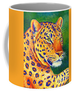 Colorful Leopard Portrait Coffee Mug