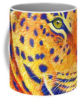 Colorful Leopard Portrait Coffee Mug