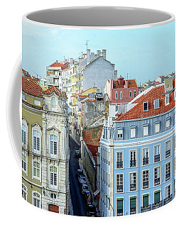Coffee Mug featuring the photograph Colorful Lisbon by Marion McCristall