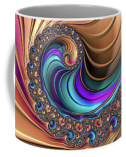 Colorful Luxe Fractal Spiral Coffee Mug by Matthias Hauser