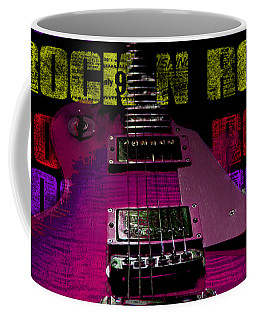 Coffee Mug featuring the photograph Colorful Music Rock N Roll Guitar Retro Distressed T-shirt by Guitar Wacky