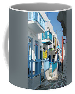 Coffee Mug featuring the photograph Colorful Mykonos by Carla Parris