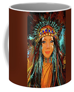 Colorful Native American Woman Coffee Mug