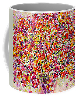 Coffee Mug featuring the painting Colorful Organza by Natalie Holland