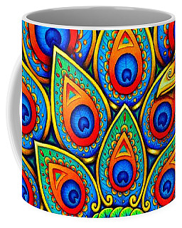 Colorful Paisley Peacock Coffee Mug