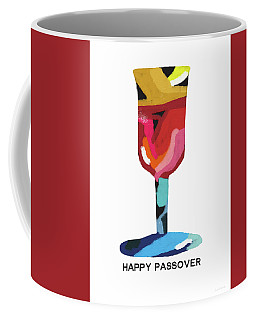 Coffee Mug featuring the mixed media Colorful Passover Goblet- Art By Linda Woods by Linda Woods